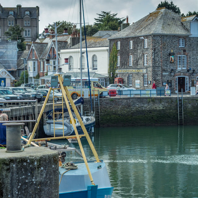 """""""Harbour area at Padstow"""" stock image"""