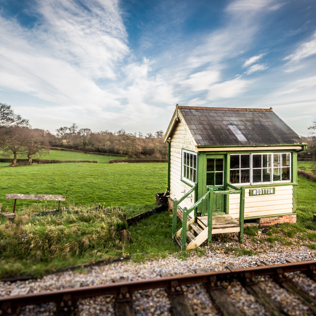 """Signal box/station on the Isle of Wight"" stock image"