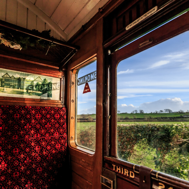 """Steam train carriage on the Isle of Wight"" stock image"