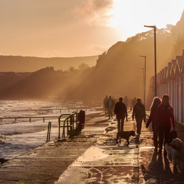 """Sandown seafront, Isle of Wight"" stock image"