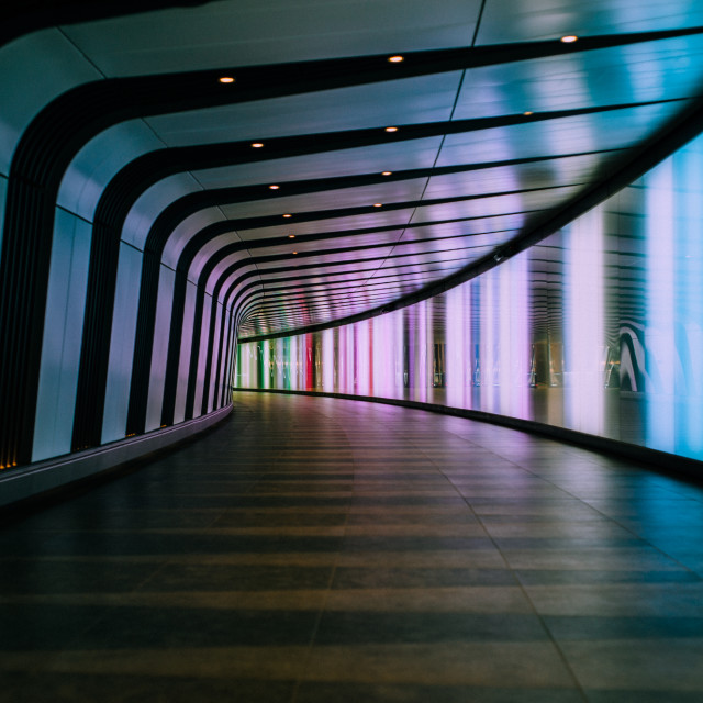 """Tunnel, Kings Cross station"" stock image"