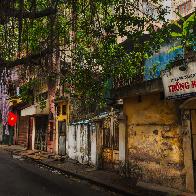 """Back street in Hanoi"" stock image"
