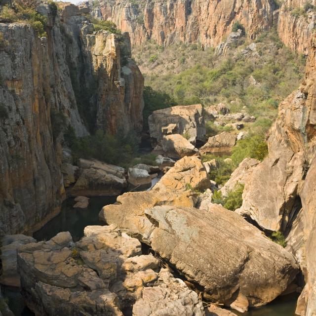 """Blye river canyon, Bourkes Lucky potholes, South-Africa"" stock image"