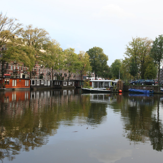 """Canal Amsterdam Netherlands, Gracht Amsterdam Nederland"" stock image"