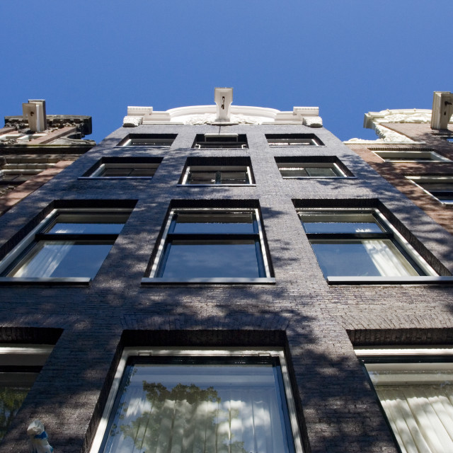 """""""Front of a house Amsterdam Netherlands, Grachtendpand Amsterdam Nederland"""" stock image"""