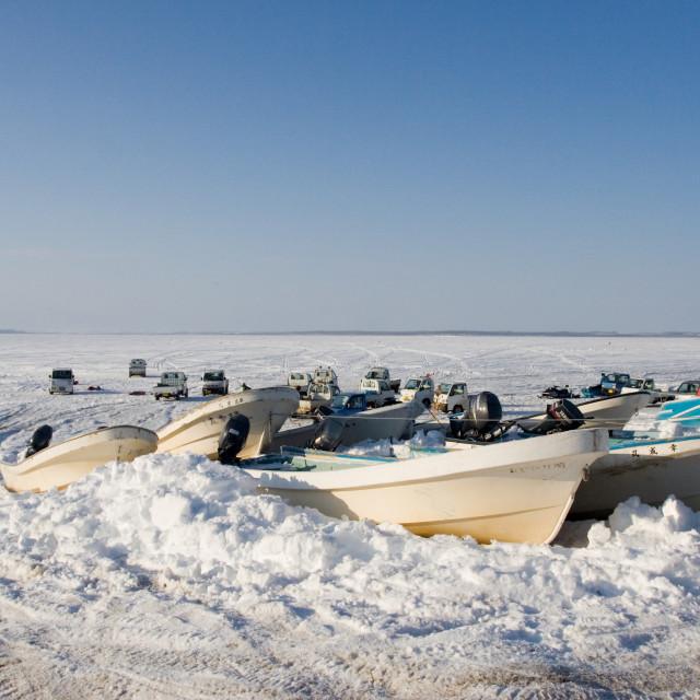 """""""Furenmeer Hokkaido, Lake Furen Hokkaido"""" stock image"""