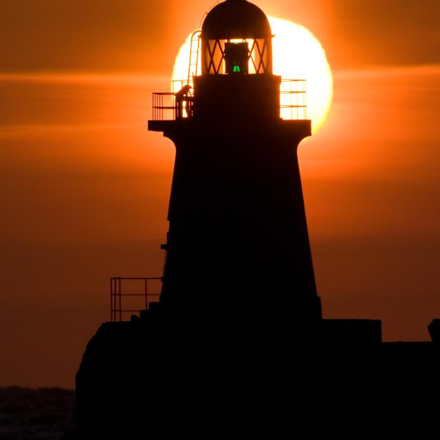"""Vuurtoren op Hokkaido, Lighthouse on Hokkaido"" stock image"