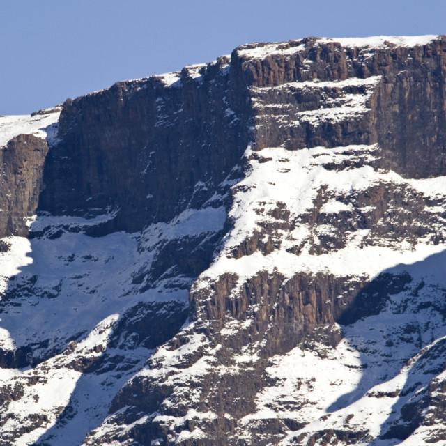 """Sani Pass, Drakensbergen, South-Africa"" stock image"