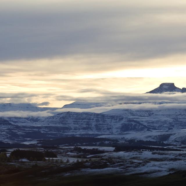 """""""Underberg, Drakensbergen, South-Africa"""" stock image"""