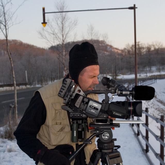 """""""Filmcrew, Film crew"""" stock image"""