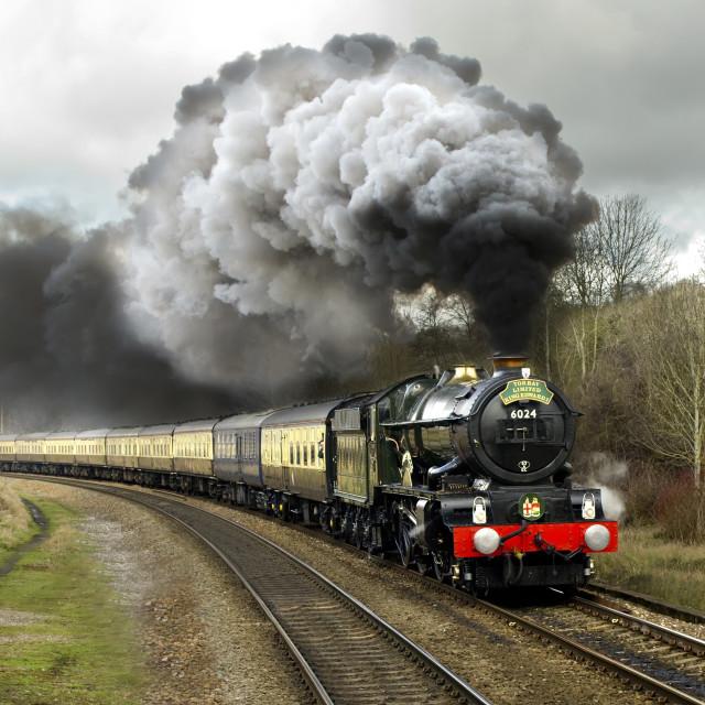 """GWR 6000 Class 6024 King Edward I"" stock image"