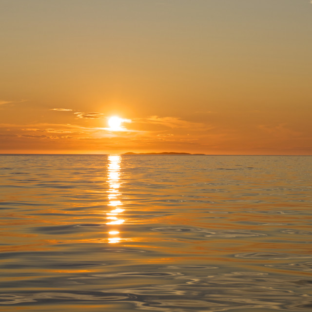 """""""Sunset over the sea"""" stock image"""