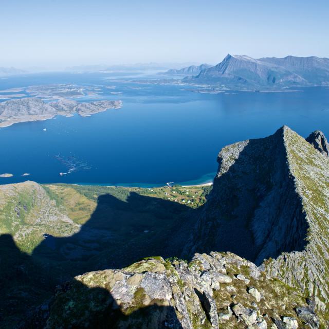"""""""Coastline seen from a mountain"""" stock image"""