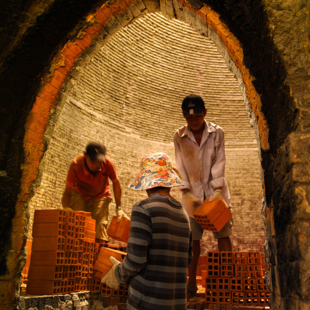 """Inside brick 's kiln"" stock image"