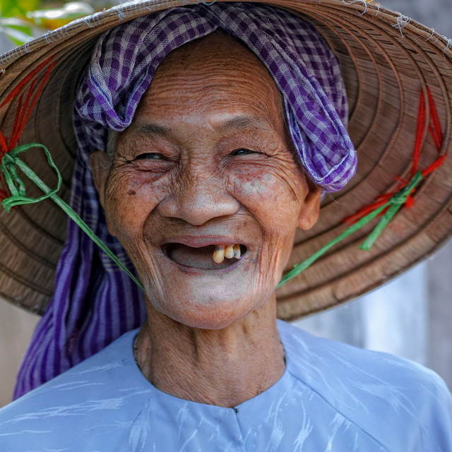 """The smile of old woman"" stock image"