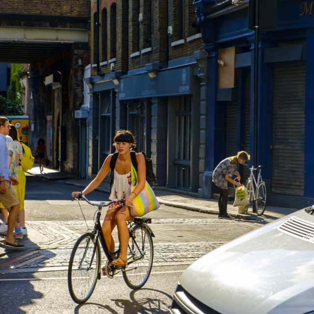 """""""Shoreditch district in London"""" stock image"""