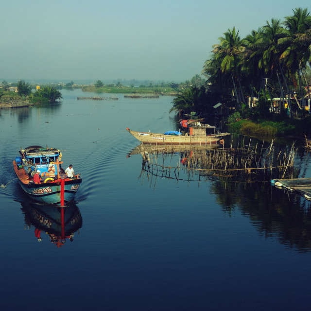 """Hoi An river"" stock image"