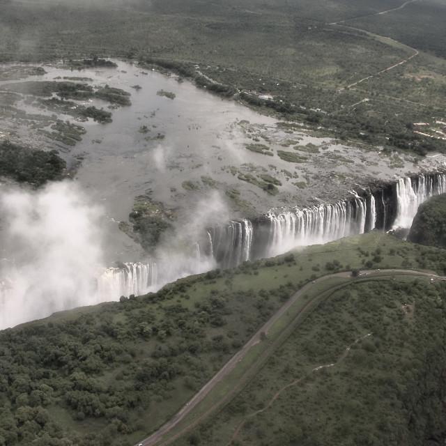 """""""Victoria Falls Zambia, Victoria Watervallen Zambia"""" stock image"""