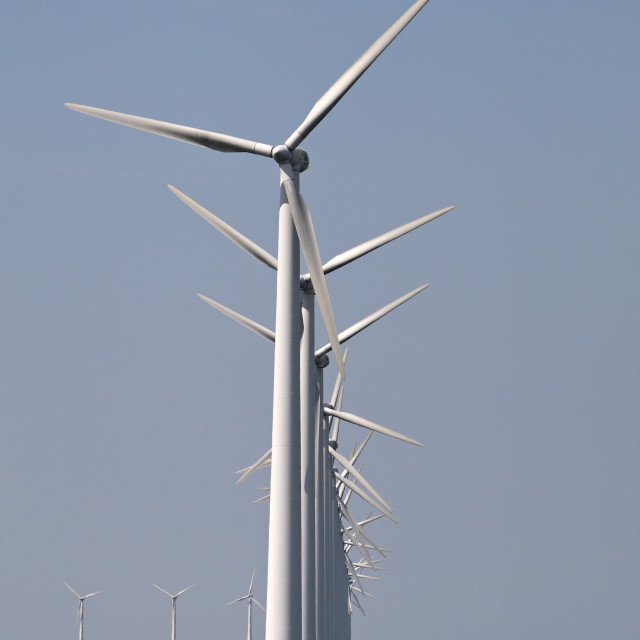 """""""Windturbines, Wind-turbines"""" stock image"""