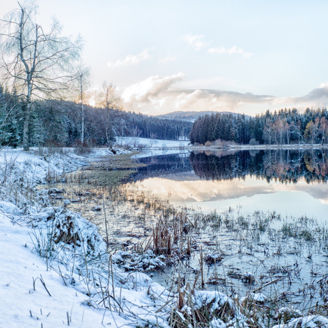 """Lake in white"" stock image"
