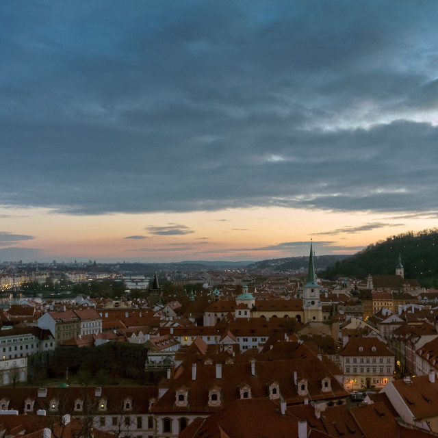 """Prague at dusk"" stock image"