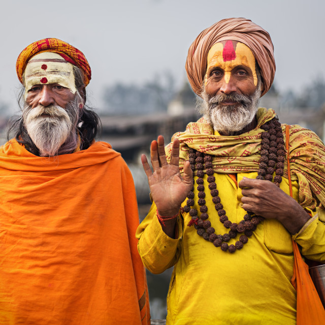 """Sadhus in Pashupatinath"" stock image"