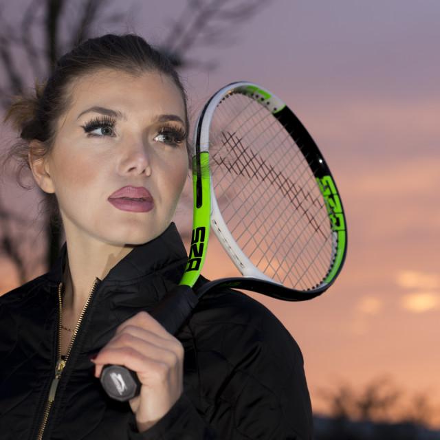 """Tennis Girl"" stock image"