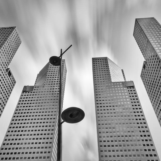 """Suntec Towers"" stock image"