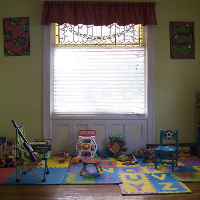 """Child's PlayArea"" stock image"