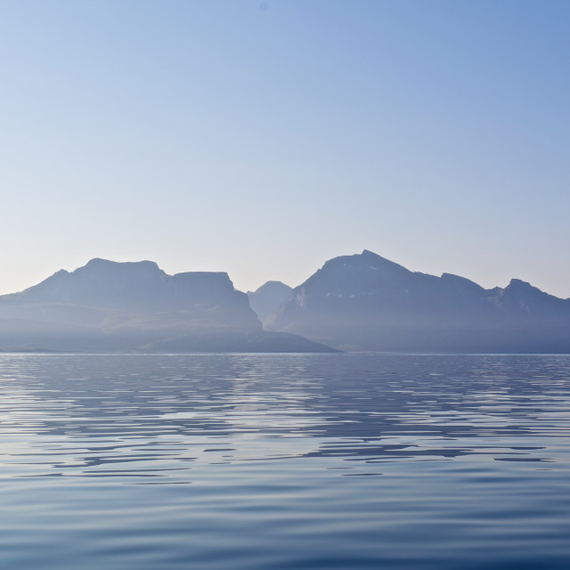"""""""Mountains and sea"""" stock image"""