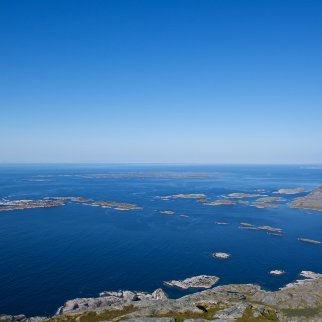 """""""Islands seen from a mountain"""" stock image"""