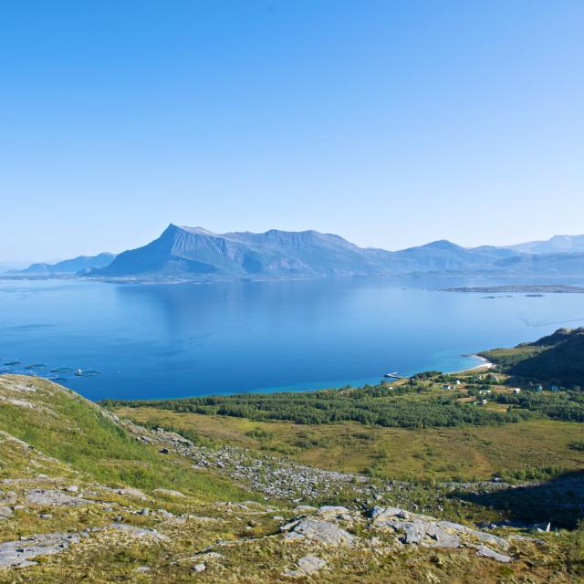 """Coastline in Norway"" stock image"