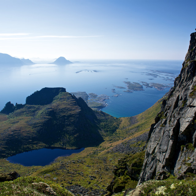 """""""Coastline view from top"""" stock image"""