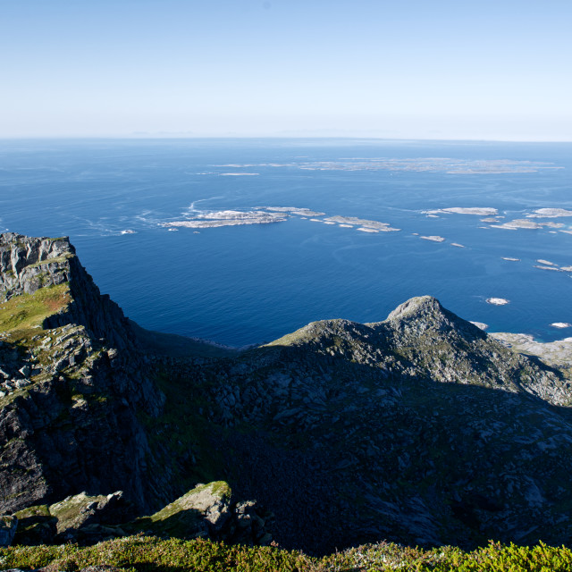 """""""coastline view from mountain top"""" stock image"""