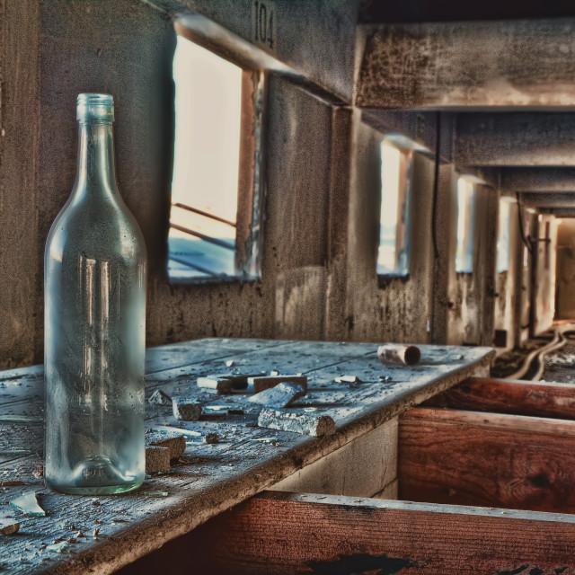 """""""Empty wine, empty life"""" stock image"""