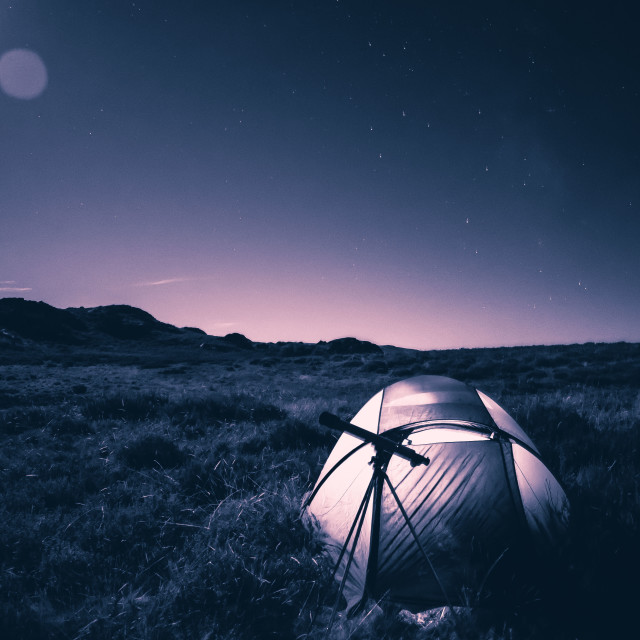 """camp on the stars"" stock image"