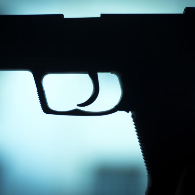 """Automatic 9mm pistol handgun weapon"" stock image"