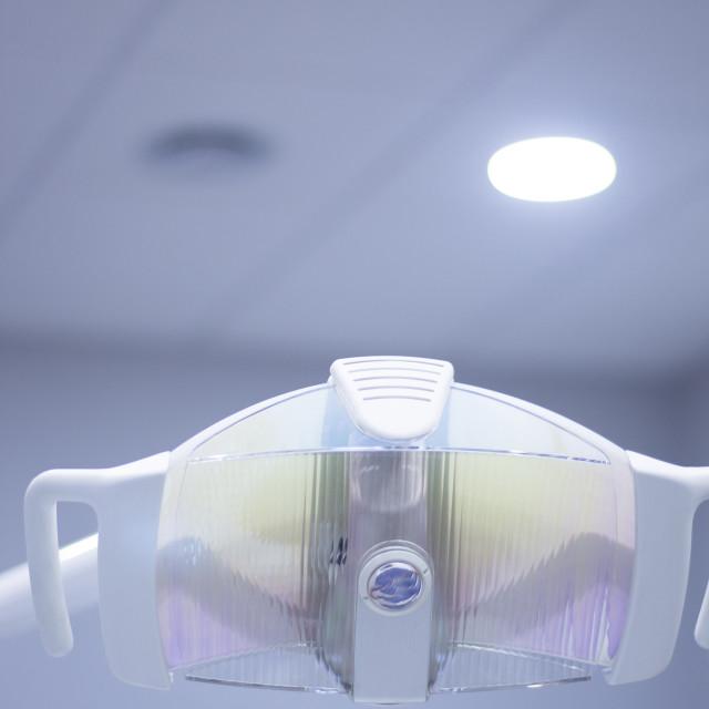 """""""Dentist's chair dental light"""" stock image"""