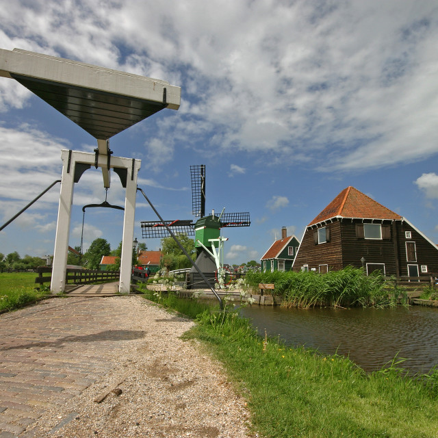 """Landschap De Zaanse Schans, Landscape De Zaanse Schans"" stock image"