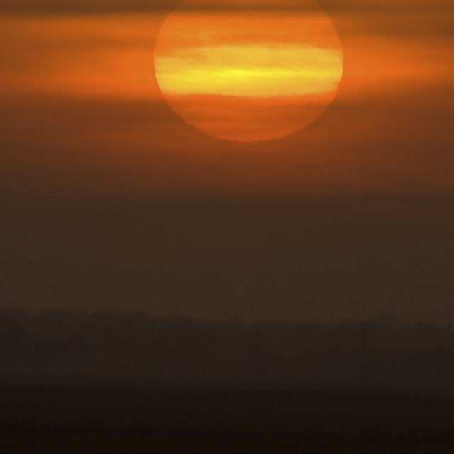 """Zonsondergang, Sunset"" stock image"