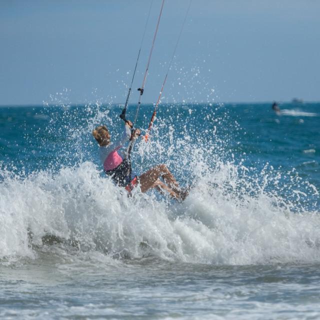 """""""Kite surfing."""" stock image"""