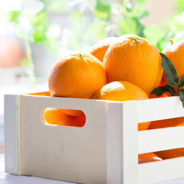"""Box of oranges"" stock image"