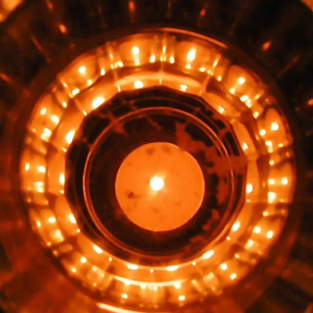 """""""Candle Glow"""" stock image"""