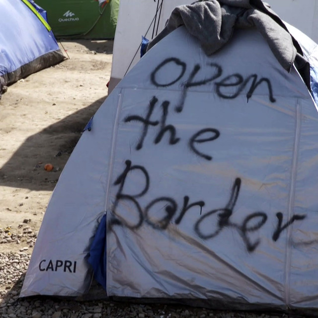 """Open border"" stock image"