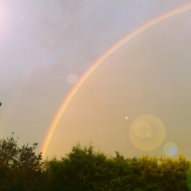 """Sunny Rainbow"" stock image"