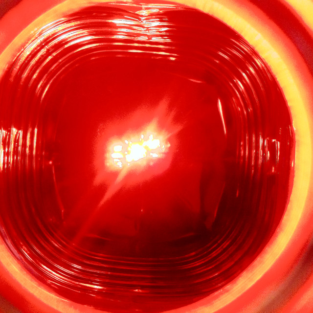"""Concentric Circles of Red"" stock image"