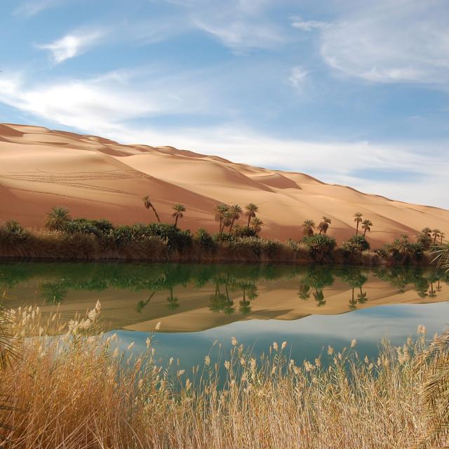 """Ubari Lake"" stock image"