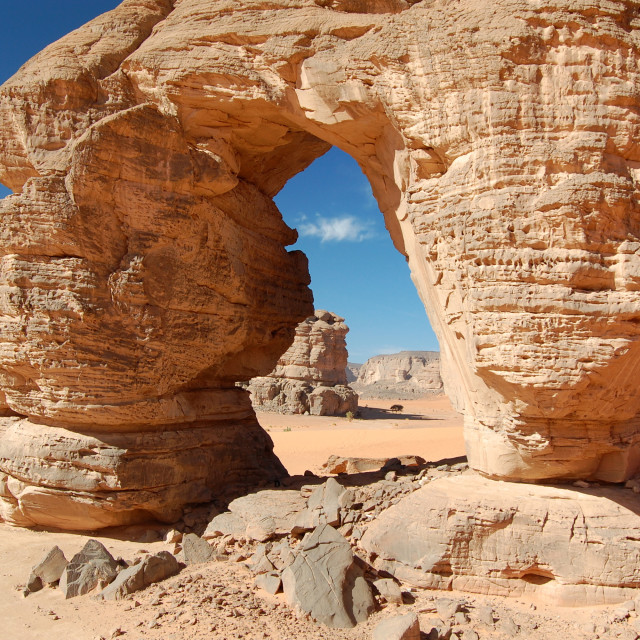"""Arch in the Desert"" stock image"