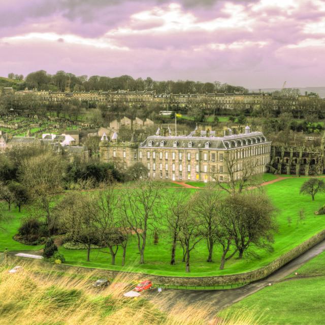 """""""Holyrood Palace in Edinburgh at Dusk"""" stock image"""