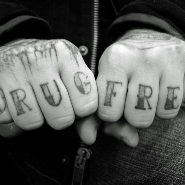 """Drug Free"" stock image"